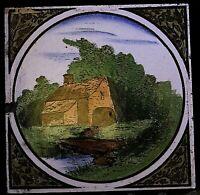Antique Victorian All Colour Ceramic Tile Collectible Countryside Bridge Design