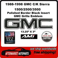 AMI 96505KP Gmc Grille Emblem-Polished//Black Powdercoat