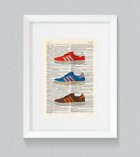Adidas Trimm Trabs Originals Vintage Dictionnaire Livre Print Wall Art