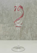 70th Birthday Champagne Glass Flute | Unique Gift for Her |  Keepsake Idea