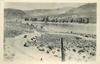 1933 Washington Coulee dam before Construction RPPC real photo postcard 5492