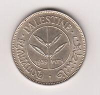 Palestine British Mandate Silver Coin Israel 50 Mils Mil 1939 KM6 UNC