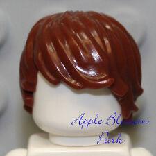 NEW Lego Max Minifig Tousled BROWN HAIR Side Swept Boy/Male Minifigure Head Gear