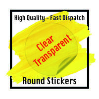PERSONALISED CLEAR TRANSPARENT ROUND CIRCLE CUSTOM LOGO STICKERS LABELS