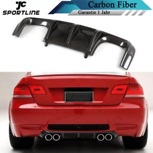 Carbon Diffusor Heck Stoßstange Spoiler für BMW 3er E92 E93 M3 07-13 Heckschürze