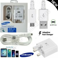 GENUINE Fast Charger Plug Micro USB Cable SAMSUNG GALAXY S4 S6 S7 Edge Note 4 5
