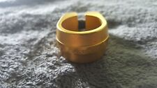 """OLD SCHOOL BMX NOS SUNTOUR SEAT CLAMP 25.4 FOR 22.2 1"""" GOLD MONGOOSE VINTAGE ARE"""