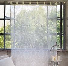 Gardine Vorhang creme weiss Landhaus Shabby 140 x 290 Blanc Mariclo