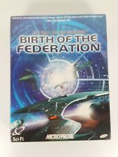 STAR TREK BIRTH OF THE FEDERATION PC BOXED NEW SEALED ( turn based strategy )