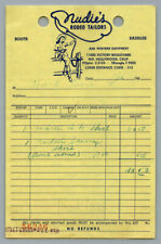 1960's Vintage HANK SNOW Personal Receipt NUDIE'S RODEO TAILORS / Grand Ole Opry