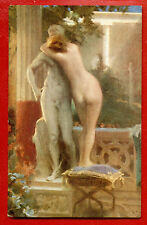 WOMAN NUDE BY JAN STYKA VINTAGE POSTCARD PUBLISHER LAPIN 272