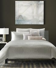 NEW Hotel Collection Keystone Light Grey QUEEN Duvet Cover MSRP $335 - WOW!
