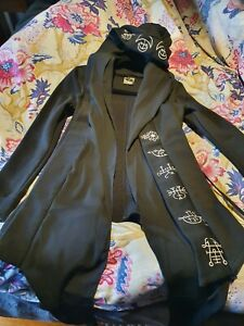 Restyle Gothic Jacket with Oversized Hoodie