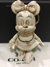 Coach x Disney Minnie Mouse Chalk Floral Doll Charm Key Chain Limited F30955 NWT
