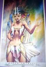 Michael Turner SIGNED Aspen Swimsuit 13x19 Lithograph Art Print 2006 Wizard LA