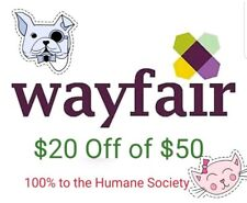 BUY IT NOW, USE IT TODAY (FAST!) Wayfair $20 off $50 or More (New Accounts Only)