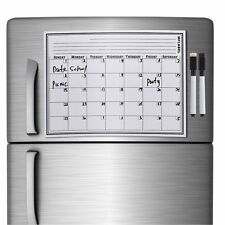 17 x 12 Calendar Dry Erase Magnetic Refrigerator Flexible Message Board + Marker