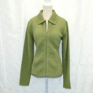 EP Pro Green Golf Jacket Size Small Womens Textured with Collar Softshell euc