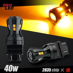 New Design Amber Yellow LED Turn Signal Blinker Lights bulbs 3157 3156