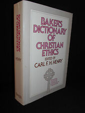Baker's Dictionary of Christian Ethics (1978, Paperback) Edited Carl F. H. Henry