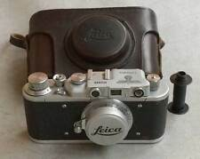 Leica II D Luftwaffe copy chrome in leather case (FED-Zorki copy)