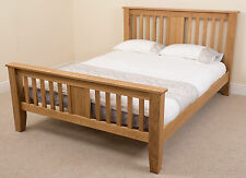 Boston Solid Oak Wood 5ft King Size Bed Frame Bedroom Furniture Wooden Beds