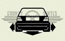 Aufkleber/Sticker VW Golf 2 MK2 low, tiefer breiter OEM,DUB,GTI,G40,G60, Rallye