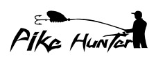 Pike Hunter Karpfen angeln Aufkleber Auto Style Sticker Fishing Spinnig Hecht