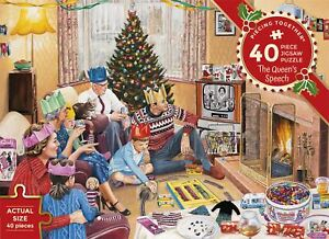 Gibsons Jigsaw Puzzle The Queen'S Speech Piecing Together 40 Pieces Jigsaw Puzzl