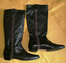 Vittorio Virgili leather knee high boots. Size 40/US9. Made in Italy
