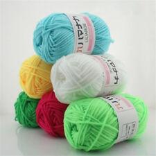 2pcs 42 Colors Bamboo Cotton Knitting Yarn Baby Wool Yarn chunky yarn LOT Sale