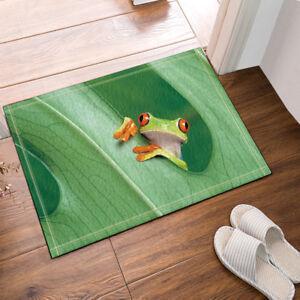 Cute Frogs Theme Animal Non Slip Flannel Shower Rug Carpet Bath Mat Door Mat New