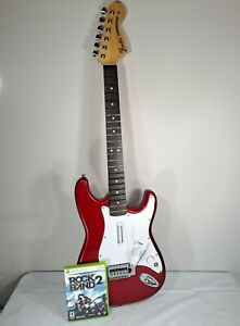 Fender Real Wooden Stratocaster Replica Wireless Guitar Xbox 360 Rock Band Game