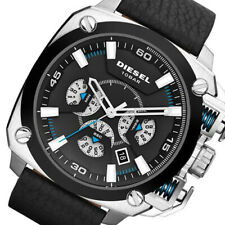Diesel Men's DZ7345 BAMF Stainless Steel Square Black Leather Watch