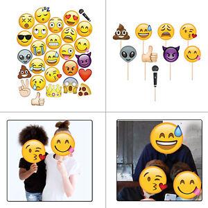 Lustig Emoji Party Requisiten Slefie Gesichter Fotokabine Maske Kinder Gefallen
