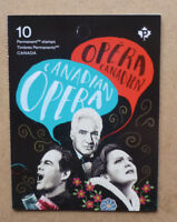 2017 CANADA OPERA STAMP BOOKLET 10 STAMPS