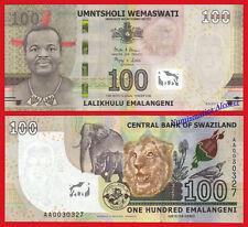 SWAZILAND 100 Emalangeni 2017 (2018) AA Pick NEW  SC / UNC