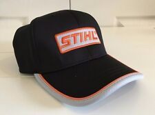 Stihl Outfitters Black Stretch-Fit Performance Hat Cap Size M/L