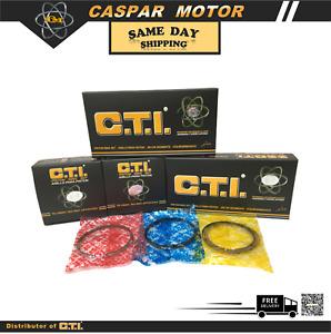 C.T.I. 04-087-02 PISTON RING SET FOR 87-97 HONDA ACURA STERLING C27A1 2.7L SOHC