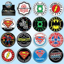 DC Comics Heroes Sports Logos Metal Comic Art Button Assortment of 144 NEW BOXED