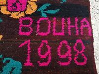 Handmade Vintage Moroccan Berber Azilal Rug Beni Ourain Tribal Wool Carpet