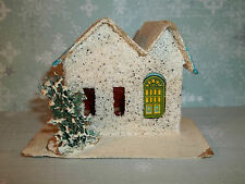 Vintage Christmas Paper PUTZ HOUSE White & Turquoise Made in BLUME JAPAN C606