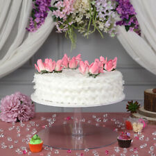 "CAKE STAND 1 Tier 16"" Clear Cupcakes Wedding Birthday Party Catering WHOLESALE"