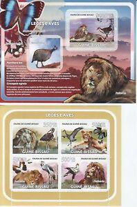 Guinea Bissau 2008 Löwen lions s/s + m/s