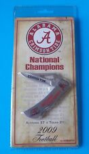 NEW! ALABAMA CRIMSON TIDE 2009 FOOTBALL NATIONAL CHAMPIONS KNIFE! STIDHAM
