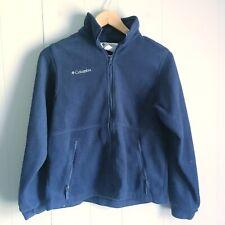 Columbia Zip Up Fleece Jacket Blue Youth 14/16