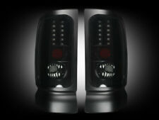 1994-02 Dodge Ram Rear Brake & Reverse Dark Smoked Taillights w/ Brake LED Bulbs