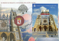 Spain 2018 FDC Leon Cathedral 12 Months 12 Stamps 1v M/S Cover Tourism Stamps