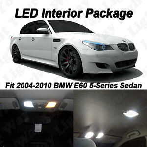 17 x White SMD LED Interior Lights For 2004-2010 E60 525i 528i 530i 535i 550i M5