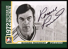 ITG 1972 THE YEAR IN HOCKEY WHA AUTO AUTOGRAPH ROSAIRE PAIEMENT CHICAGO COUGARS